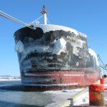 MT Baltic Commander's frozen Anchors